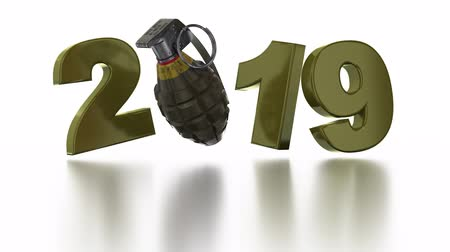 grenade : Military Granada 2019 Popup design in Infinite Rotation on a White Background