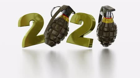 grenade : Military Hand Grenade 2020 design in Infinite Rotation Stock Footage