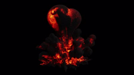 bafat : Large and Powerful Bubble Red Explosion on a Black Background