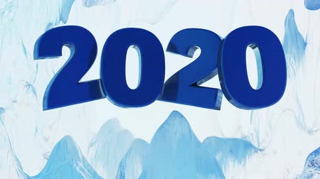 Big Blue 2020 frosting Design inside an Iced Cave