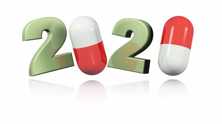 Red and White Pills 2020 Design in Infinite Rotation