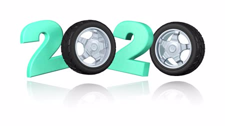 por que : Sport Wheel 2020 design in Infinite Rotation Stock Footage
