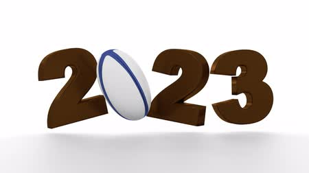 2023 design with Rugby Ball in Infinite rotation