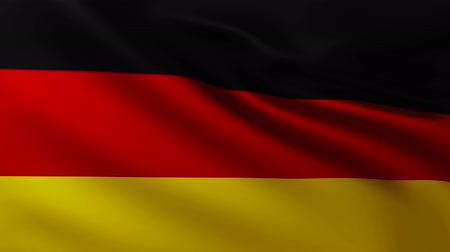Large German flag background in the wind