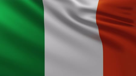 Large Irish flag background in the wind