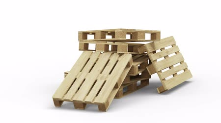 отправка : Wood Pallets Stacked In Infinite Rotation