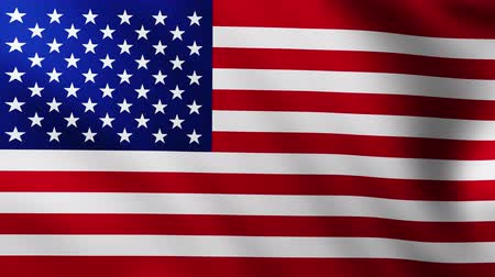 himno : Wide American flag background fluttering in the wind