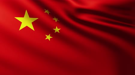 China flag background fluttering in the wind