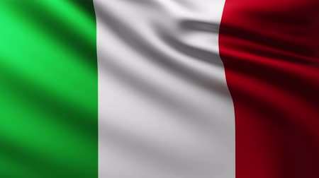 Large Italian flag fluterring in the wind Wideo