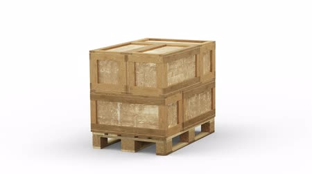 seis : Turning around a Wood Pallet loaded with 6 Transport Box