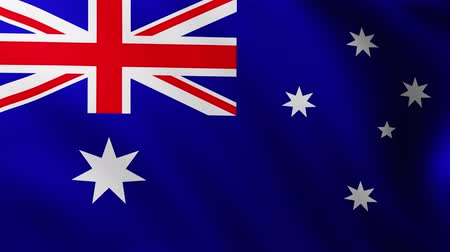 creased : Large Australian flag background fluttering in the wind