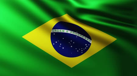 creased : Large Brazilian flag background fluttering in the wind