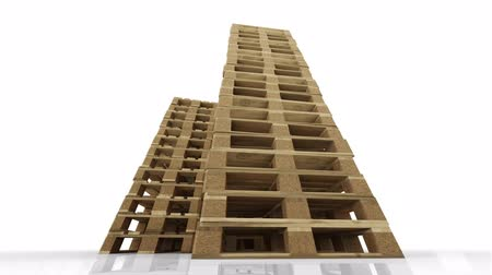 отправка : Low angle view of a high temperature stack of wood pallets Стоковые видеозаписи