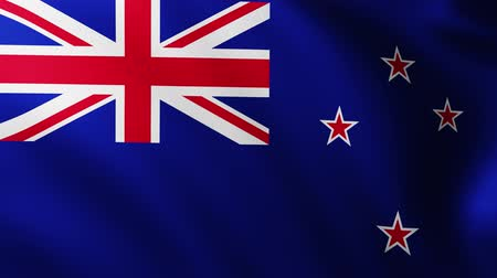 creased : Large Flag of New Zealand background fluttering in the wind