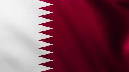 creased : Large Flag of Qatar background fluttering in the wind