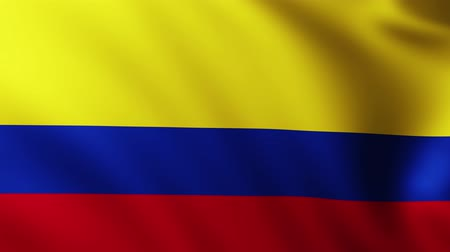 crumpled : Large Colombian flag background fluttering in the wind