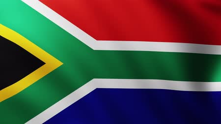 marş : Large Flag of South Africa background fluttering in the wind