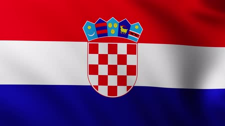 creased : Large Flag of Croatia background fluttering in the wind