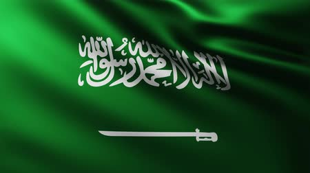 creased : Large Flag of Saudi Arabia background fluttering in the wind