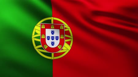 himno : Large Portuguese Flag background fluttering in the wind