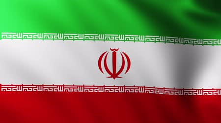 patria : Large Flag of Iran background fluttering in the wind Archivo de Video