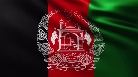 crumpled : Large Flag of Afghanistan background fluttering in the wind