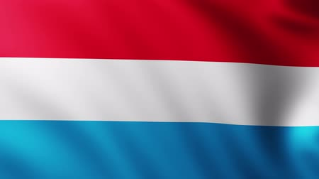 creased : Large Flag of Luxembourg background fluttering in the wind