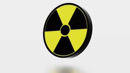 infinito : Large Radioactive Symbol in infinite rotation Stock Footage