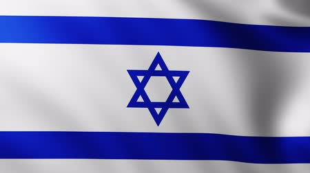 himno : Large Flag of Israel background fluttering in the wind Archivo de Video