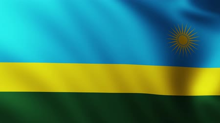 creased : Large Flag of Rwanda background fluttering in the wind