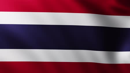 creased : Large Flag of Thailand fullscreen background fluttering in the wind with wave patterns