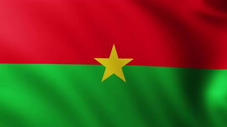 marş : Large Flag of Burkina Faso fullscreen background fluttering in the wind
