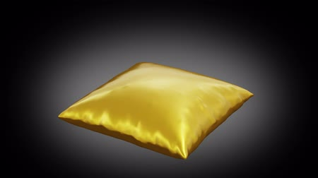 pression : Golden cushion which poping up because of a big pressure with a dark background
