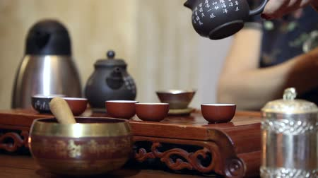 traditional ceremony : Traditional chinese tea ceremony Stock Footage