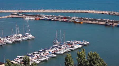 kotvící : The Touristic Harbor of Tomis is one of the most famous locations in Constanta, Romania, for both tourists and locals.