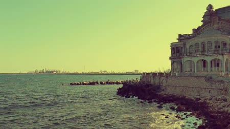 The Black Sea in front of the Cazino in Constanta, Romania.