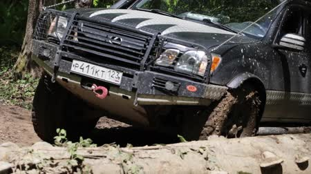 terreno extremo : Jeep rides through the mud in the woods