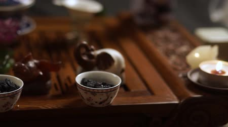 chinese culture : Tea Cup with raisins