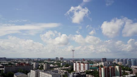 historical building : NOVOSIBIRSK, RUSSIA - View of Novosibirsk city. Timelapse 4