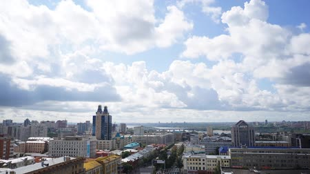 historical building : NOVOSIBIRSK, RUSSIA - View of Novosibirsk city. Timelapse 6 Stock Footage