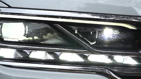 reflektor : Modern car headlights. Exterior detail.