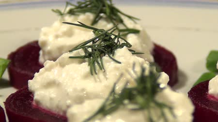 молочный : Healthy and fresh salad of beets and cottage cheese
