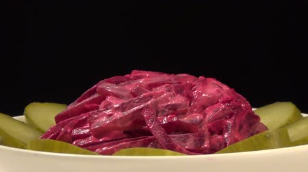 молочный : Delicate and delicious salad of beet and cucumber.