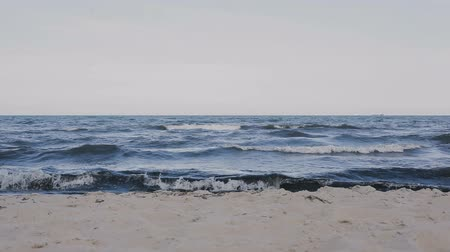 small waves on the coast of the Baltic Sea