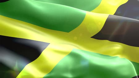 jamaica : Animated 3D flag of  Jamaica. loop