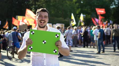 picketing : Guy Laughs and is Happy with Result of the Protest 4K When he Lost his Rights