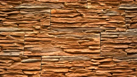 marmorizado : Panorama of decorative stone. Move up the granite to the house. Wall of stone. Clear place for your isolated text pattern. Empty space for your title copy space. Copyspace logo to blank design. Vídeos