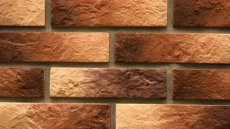 шов : Pan brown decorative brick your home. Brickwork background. Unique drawing block. Clear place for your isolated text pattern. Empty space for your title copy space. Copyspace logo to blank design.