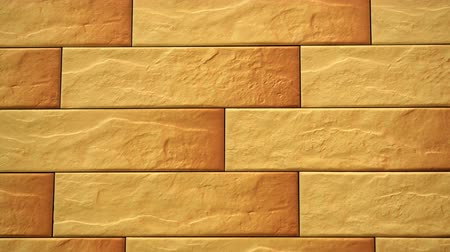 Pan of light decorative seamless brick home. Brickwork background. Figure block. Clear place for your isolated text pattern. Empty space for your title copy space. Copyspace logo to blank design. Wideo