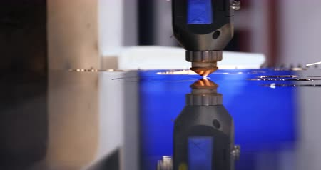 kaynakçı : Laser Cut Circle Motion Machine Steel Surface. Mechanical Automation Machinery Metalwork Operation. Robot Welder Factory Production Technological Process High Precision Robotics Concept 4K